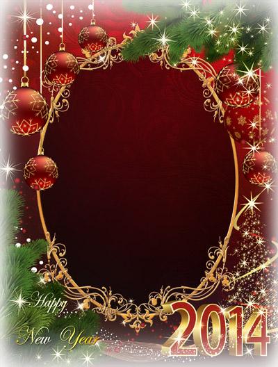 Новогодняя рамка для красного цвета