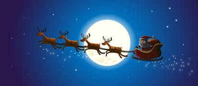Дед мороз в оленьей упряжке