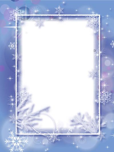 Рамка со снежинками