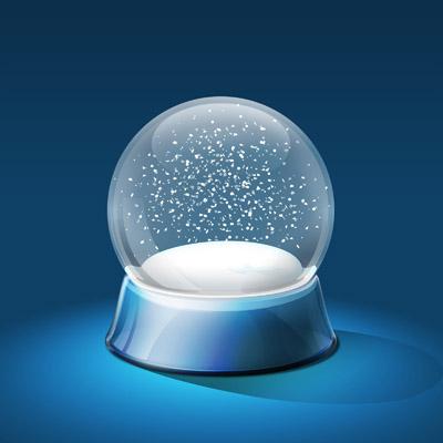 Стеклянный шар со снежинками