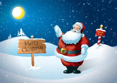 Открытка с Санта Клаусом