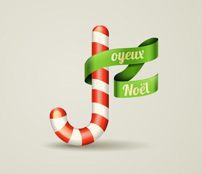 Рождественская сладкая тросточка
