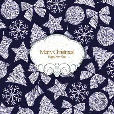 Новогодняя открытка с красивым фоном