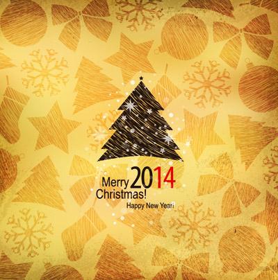 Золотая новогодняя открытка