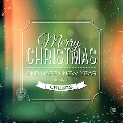 Зеленая открытка к новому году