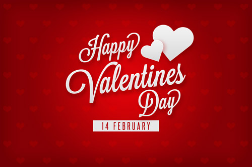 Красная открытка на День Святого Валентина