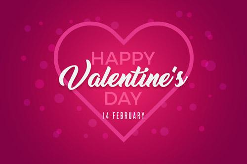 Розовая открытка на День Святого Валентина