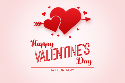 Светлая открытка на День Святого Валентина