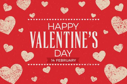 Открытка на День Святого Валентина в стиле Flat