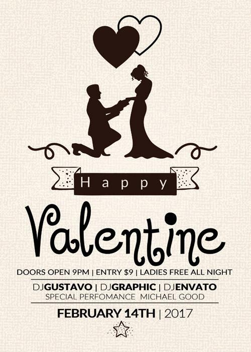 Флаер-открытка на День Святого Валентина
