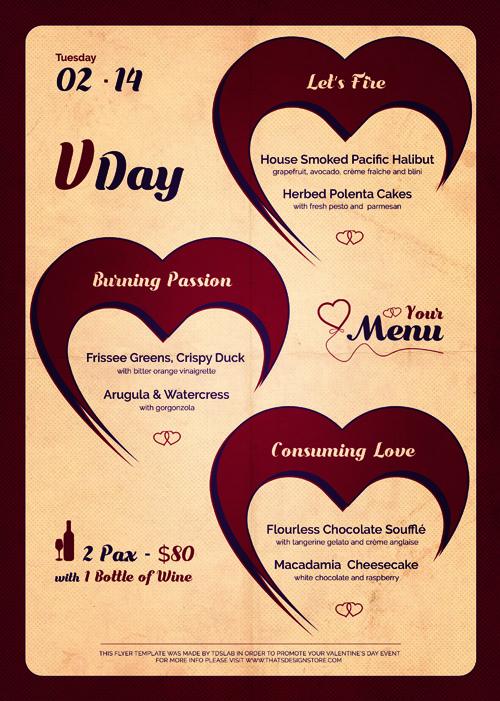 Открытка на День Святого Валентина на старой бумаге