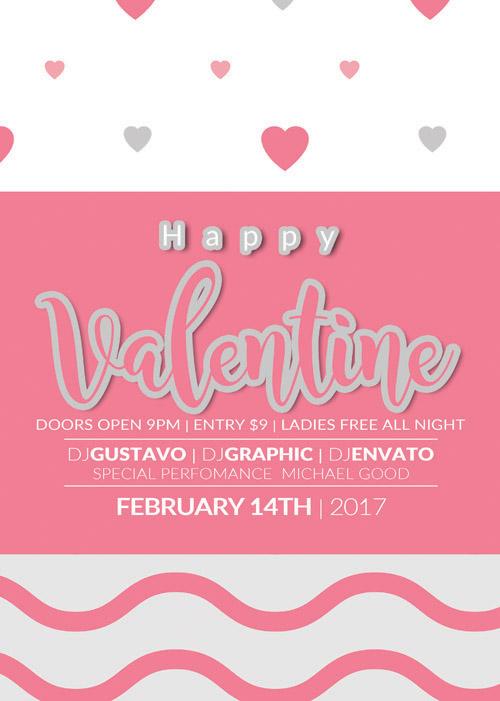 Нежный постер на День Святого Валентина