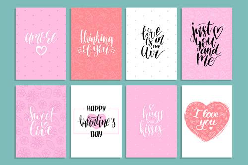 Маленькие открытки на День Святого Валентина