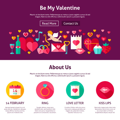 Шаблон сайта ко Дню Святого Валентина