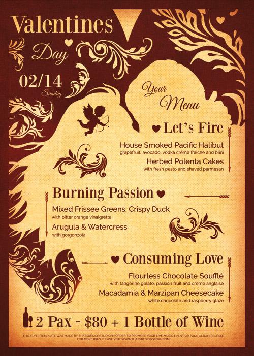 Послер, плакат на День Святого Валентина