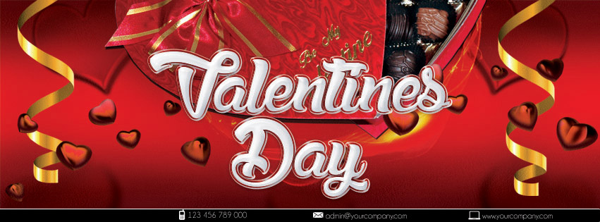 Открытка-флаер на День Святого Валентина