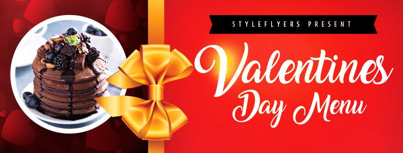 Оформление на День Святого Валентина (открытка, постер, меню)
