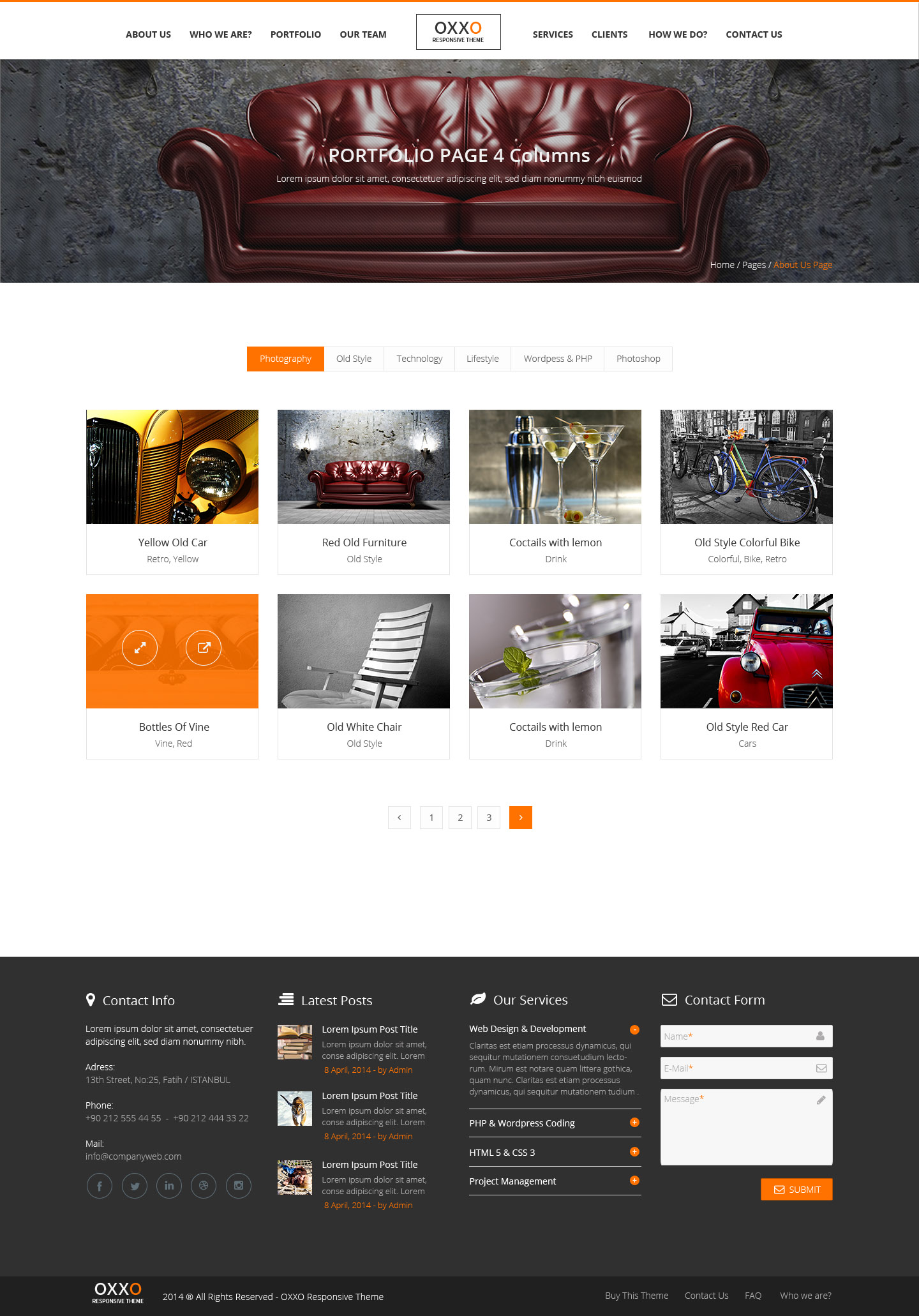 Шаблон сайта мебельной компании