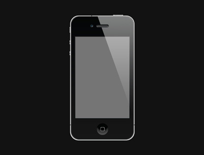 Черный iPhone на черном фоне