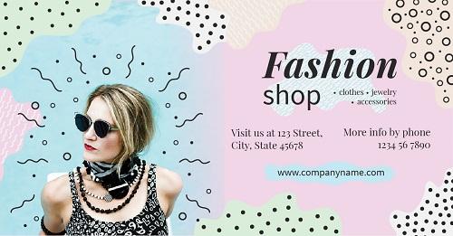 Яркий современный баннер для магазина одежды и аксессуаров