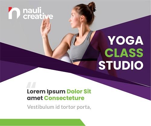 Баннер для студии йоги