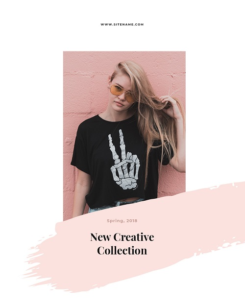 Баннер к новой коллекции одежды