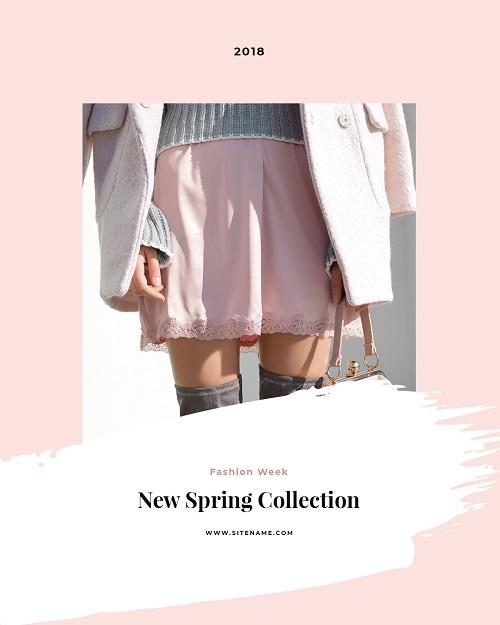 Баннер к весенней коллекции одежды