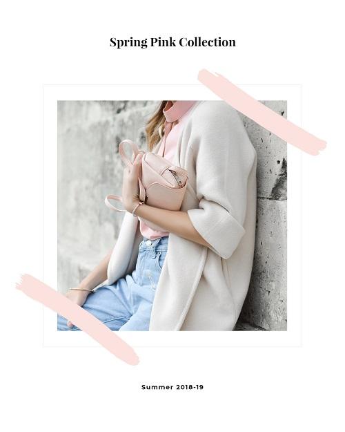 Баннер для весенней розовой коллекции одежды