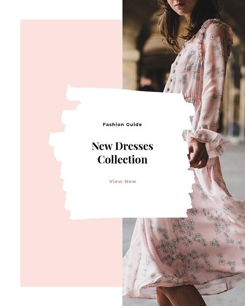Розовый баннер новой коллекции одежды