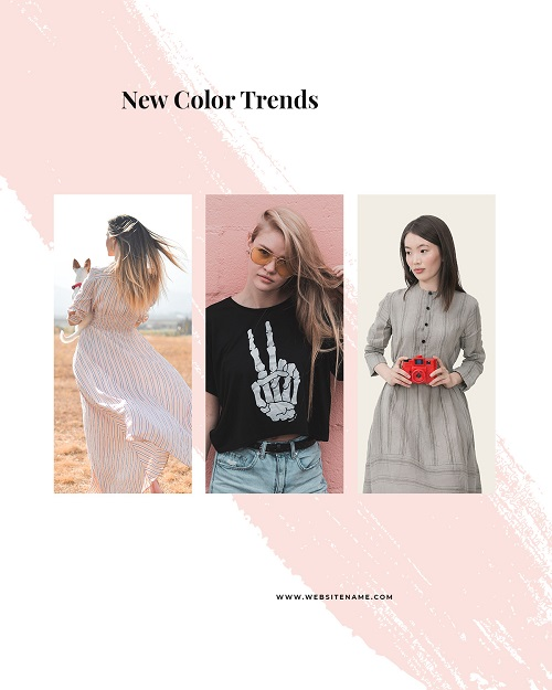 Баннер с новыми цветовыми трендами