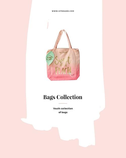 Баннер коллекции сумок