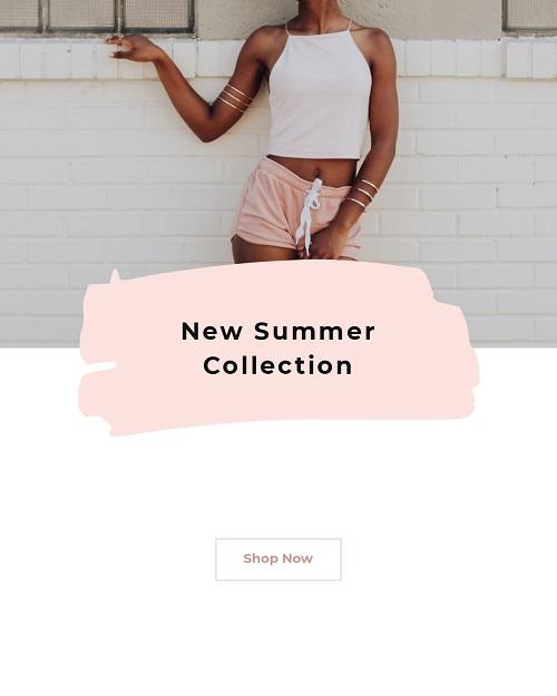 Баннер для новой летней коллекции одежды