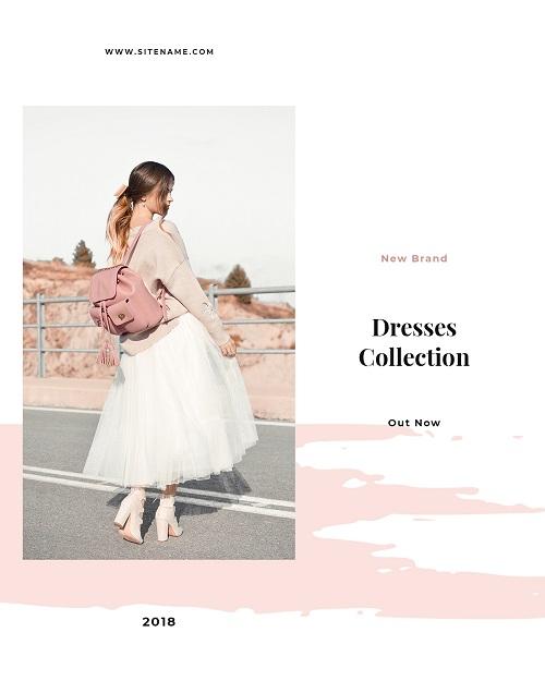 Баннер для коллекции платьев