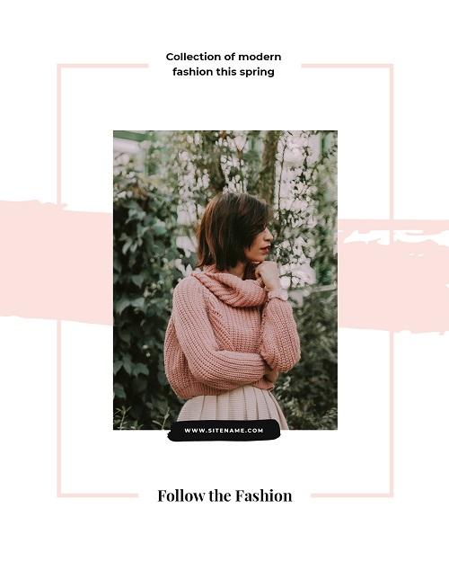 Баннер для коллекции весенней одежды