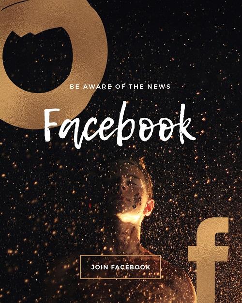 Темный баннер для Facebook
