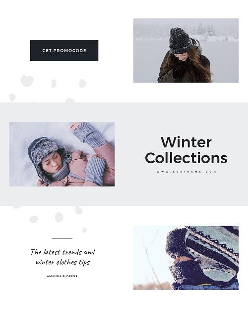 Баннер для зимней коллекции одежды