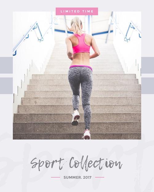 Баннер для спортивной коллекции одежды