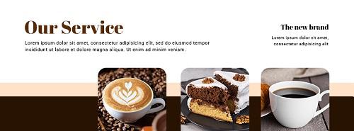 Баннер для кофейни с тремя фото