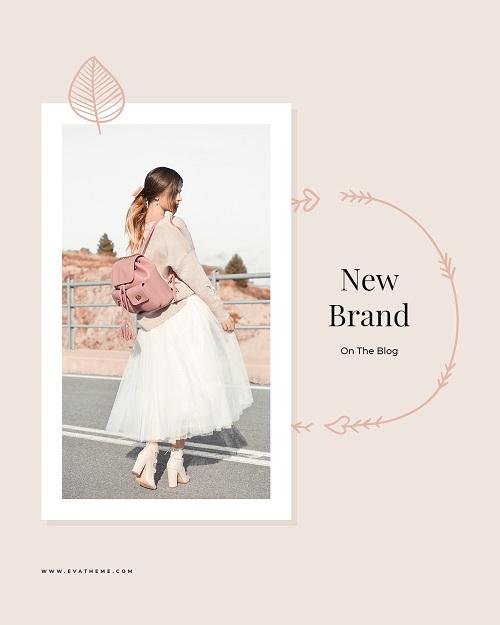 Шаблон баннера для рекламы бренда одежды
