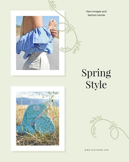 Баннер для весенней коллекции одежды