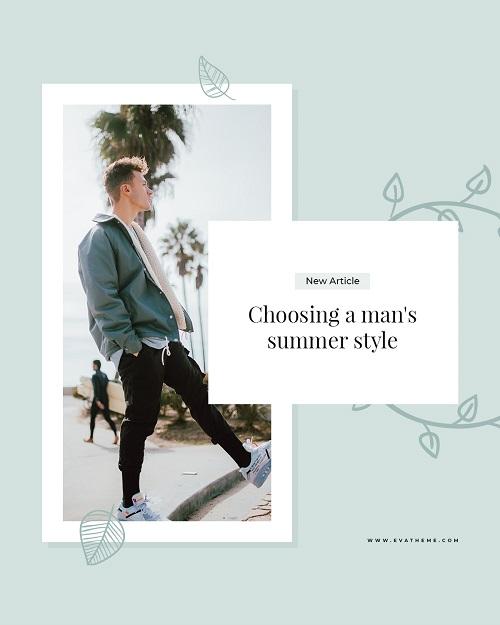Шаблон баннера для новой коллекции мужской одежды