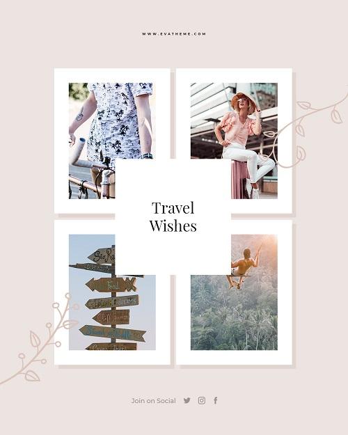 Шаблон баннера о путешествиях