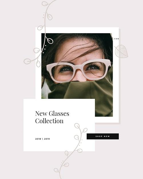 Баннер для рекламы новой коллекции очков