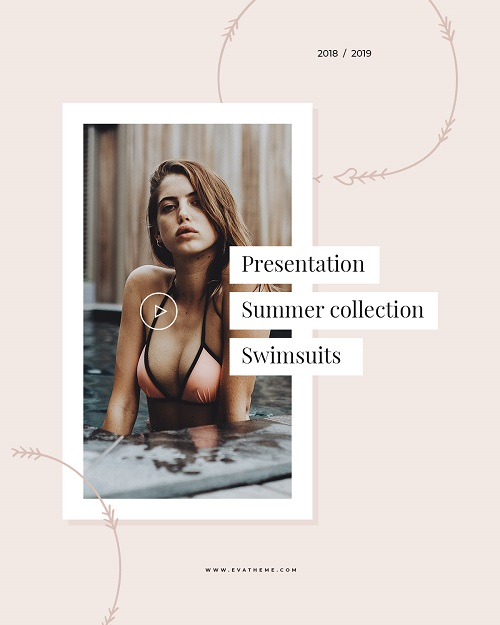 Шаблон для презентации новой коллекции купальников