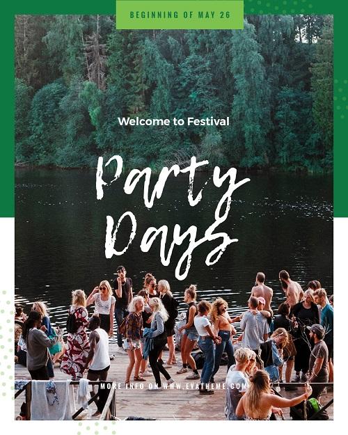 Шаблон флаера для вечеринки на природе