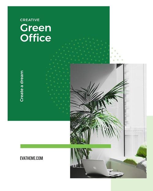 Шаблон зеленого офиса