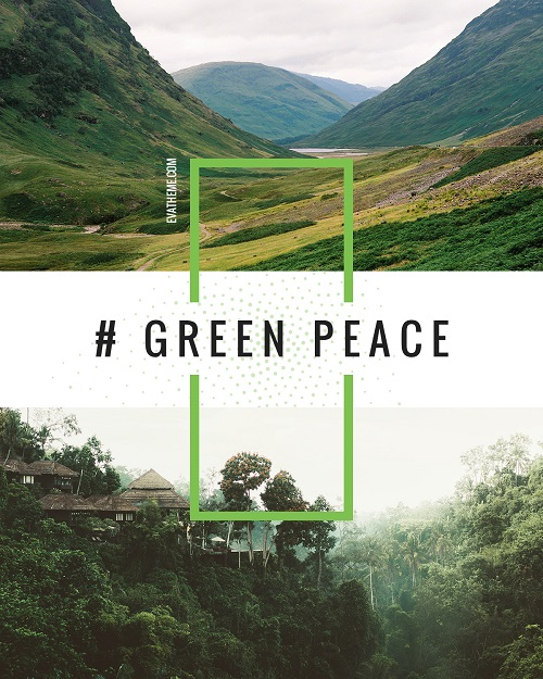 Зеленый мир - эко шаблон