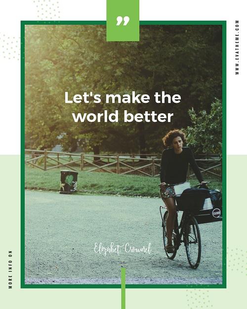 Эко шаблон - давайте сделаем мир лучше