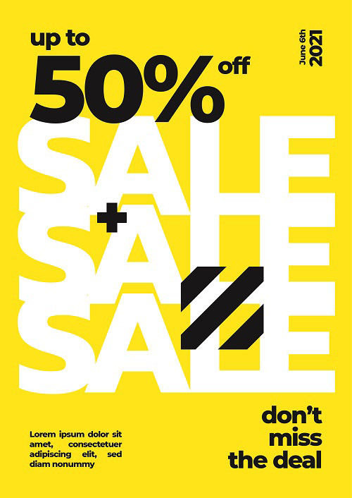 Большая распродажа - шаблон со скидками 50%