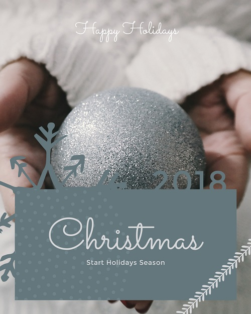 Серый шаблон открытки или баннера на рождество, новый год